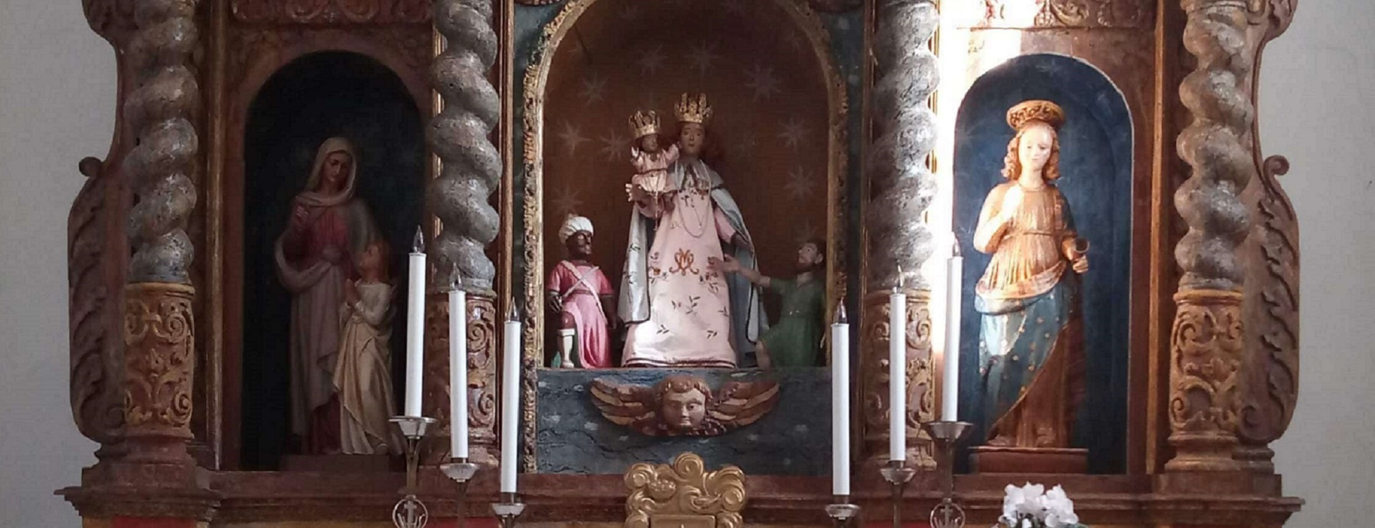 Chiesa della Madonna d'Itria – Retablo in legno policromo, particolare